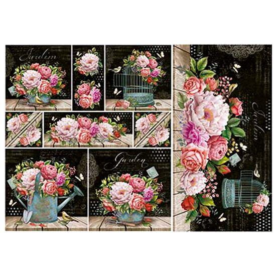 Papel-Decoupage-Litoarte-343x49-PD-997-Flores-Rosas