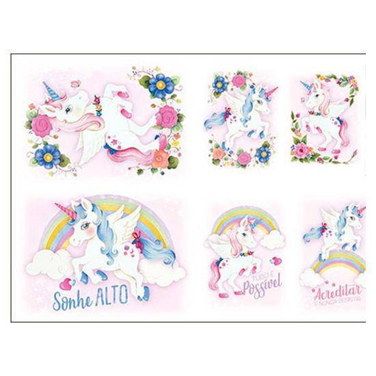 Slim-Paper-Decoupage-Litoarte-473x338-SPL-007-Unicornios-Flores-e-Arco-Iris