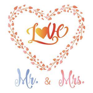 Stencil-Litoarte-25x25-STXXV-013-Coracao-Love-Mr-e-Mrs
