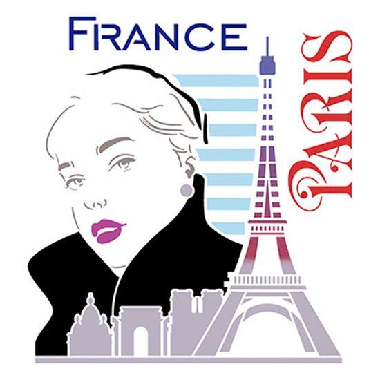 Stencil-Litoarte-25x25-STXXV-027-Mulher-Torre-Eiffel