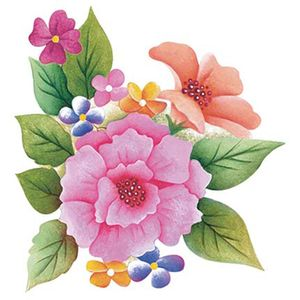 Aplique-Decoupage-Litoarte-8cm-APM8-1100-Flores-Coloridas