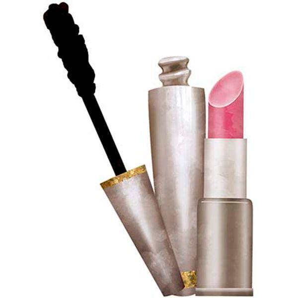 Aplique-Decoupage-Litoarte-APM8-1104-em-Papel-e-MDF-8cm-Maquiagem-Batom-e-Rimel