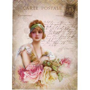 Aplique-Decoupage-Litoarte-APM8-1130-em-Papel-e-MDF-8cm-Dama-e-Rosas-Vintage