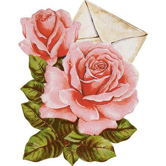 Aplique-Decoupage-Litoarte-APM8-1132-em-Papel-e-MDF-8cm-Envelope-com-Rosas