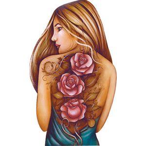 Aplique-Decoupage-Litoarte-APM8-1138-em-Papel-e-MDF-8cm-Mulher-Rosas-Tatuadas