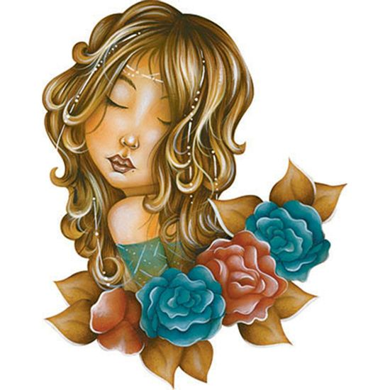 Aplique-Decoupage-Litoarte-APM8-1139-em-Papel-e-MDF-8cm-Mulher-Flores-Coloridas