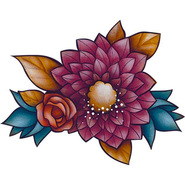 Aplique-Decoupage-Litoarte-APM8-1141-em-Papel-e-MDF-8cm-Flores-Coloridas