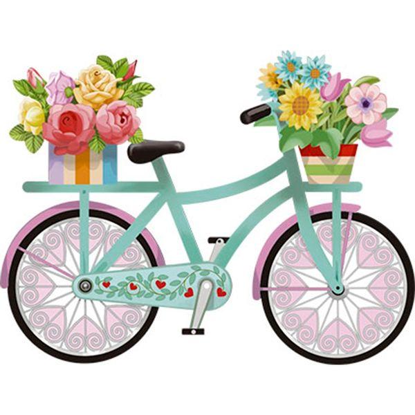 Aplique-Decoupage-Litoarte-APM8-1154-em-Papel-e-MDF-8cm-Bicicleta-com-Flores