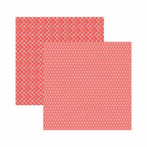 Papel-Scrapbook-Toke-e-Crie-305x305-KFSB563-Coral-Xadrez