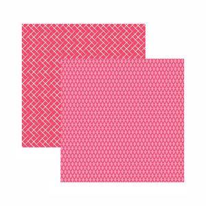 Papel-Scrapbook-Toke-e-Crie-305x305-KFSB549-Pink-Xadrez