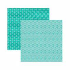 Papel-Scrapbook-Toke-e-Crie-305x305-KFSB541-Azul-Turquesa-Arabesco