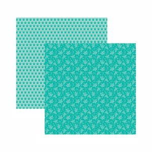 Papel-Scrapbook-Toke-e-Crie-305x305-KFSB540-Azul-Turquesa-Floral