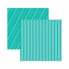Papel-Scrapbook-Toke-e-Crie-305x305-KFSB538-Azul-Turquesa-Listrado