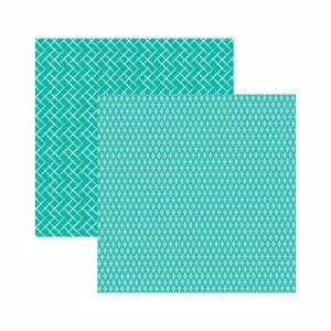 Papel-Scrapbook-Toke-e-Crie-305x305-KFSB535-Azul-Turquesa-Xadrez