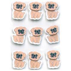 Adesivos-Feito-a-Mao-com-Glitter-Mini-Toke-e-Crie-AD1933-Cachorrinhos