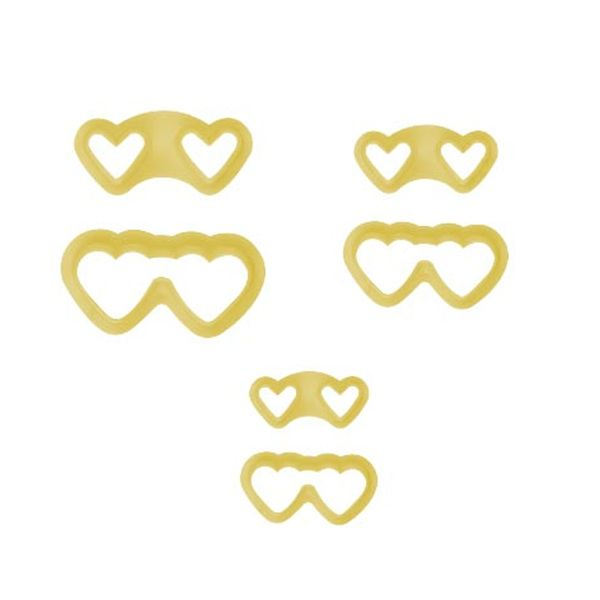 Jogo-Cortadores-de-Pasta-Americana-e-Biscuit-Blue-Star-Oculos-Coracao-com-6-Pecas