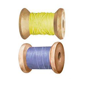 Aplique-Decoupage-Litoarte-APM4-373-em-Papel-e-MDF-4cm-Carretel-Amarelo-e-Azul