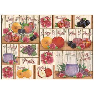 Papel-Decoupage-Litoarte-343x49-PD1-078-Frutas-Fundo-Madeira