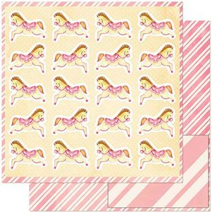 Papel-Scrapbook-Litoarte-305x305-SD-921-Cavalinhos-Infantis