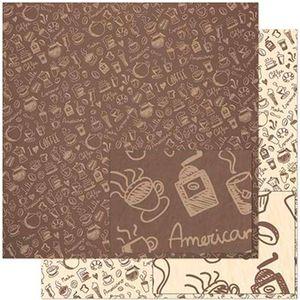 Papel-Scrapbook-Litoarte-305x305-SD-927-Estampa-de-Elementos-de-Cafe