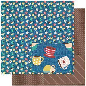 Papel-Scrapbook-Litoarte-305x305-SD-928-Estampa-de-Xicaras-Coloridas