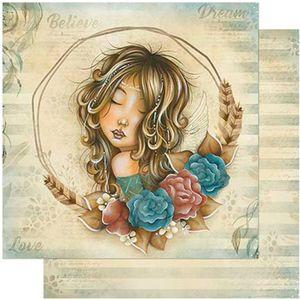 Papel-Scrapbook-Litoarte-305x305-SD-979-Mulher-Guirlanda-de-Flores