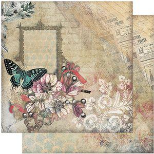 Papel-Scrapbook-Litoarte-305x305-SD-942-Borboleta-Flores-Vintage