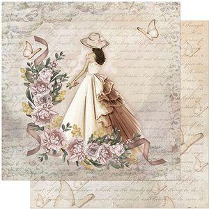 Papel-Scrapbook-Litoarte-305x305-SD-950-Dama-Rosas-e-Borboletas