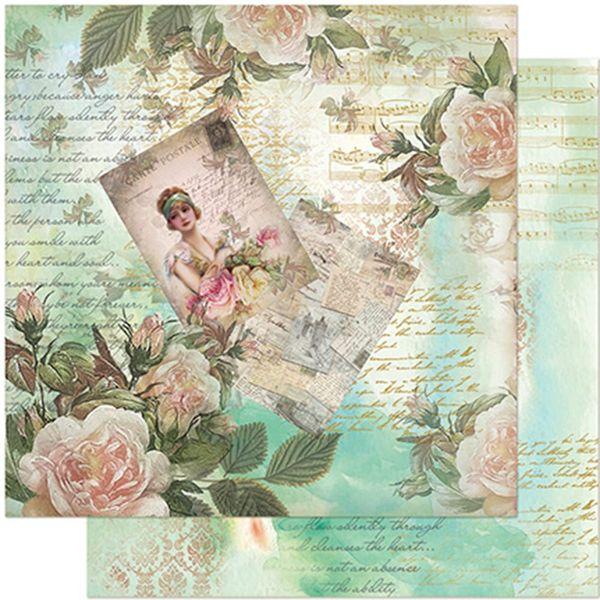Papel-Scrapbook-Litoarte-305x305-SD-953-Dama-e-Rosas-Vintage
