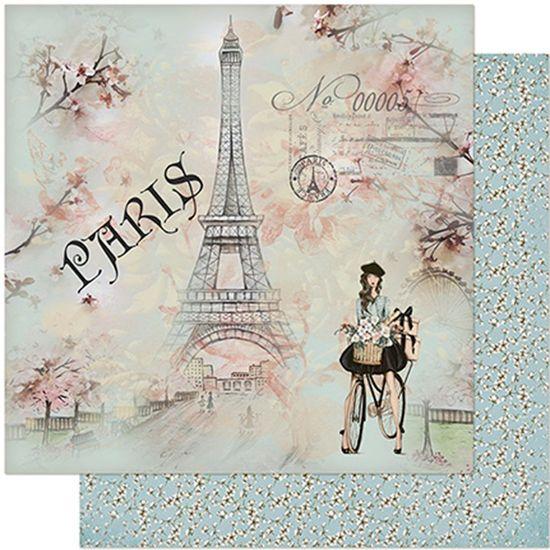 Papel-Scrapbook-Litoarte-305x305-SD-958-Jovem-na-Bicicleta-e-Torre-Eiffel