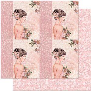 Papel-Scrapbook-Litoarte-305x305-SD-961-Quadros-Jovem-com-Rosas