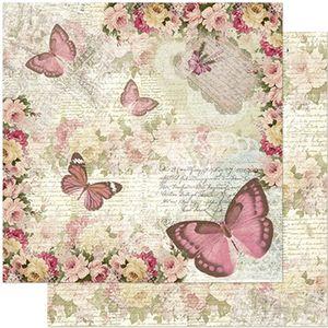 Papel-Scrapbook-Litoarte-305x305-SD-964-Borboletas-e-Flores-Vintage