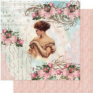 Papel-Scrapbook-Litoarte-305x305-SD-968-Dama-Rosas-e-Arabescos