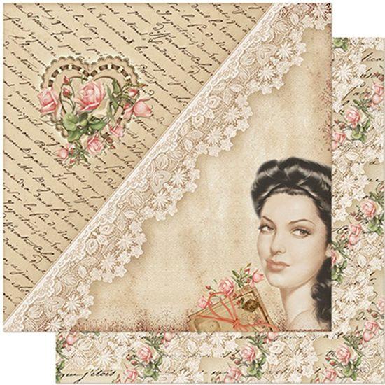 Papel-Scrapbook-Litoarte-305x305-SD-969-Dama-Coracao-e-Renda