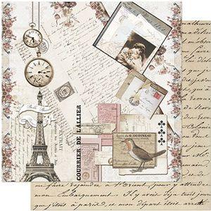 Papel-Scrapbook-Litoarte-305x305-SD-971-Cartas-Vintage
