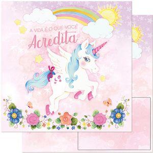 Papel-Scrapbook-Litoarte-305x305-SD-973-Unicornio-Azul