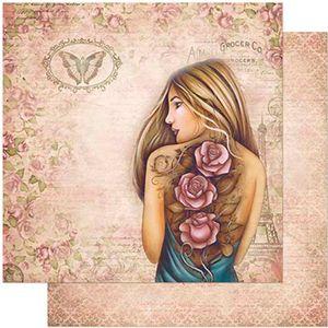 Papel-Scrapbook-Litoarte-305x305-SD-977-Mulheres-Rosas-Tatuadas