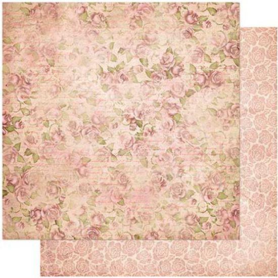 Papel-Scrapbook-Litoarte-305x305-SD-978-Padrao-Rosas-Vintage
