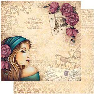 Papel-Scrapbook-Litoarte-305x305-SD-983-Mulher-com-Rosas-no-Cabelo