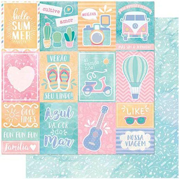 Papel-Scrapbook-Litoarte-305x305-SD-991-Cultive-Amor-Verao-e-Flechas