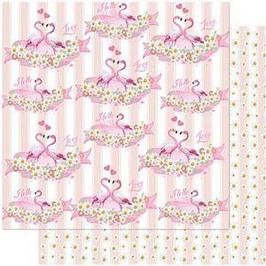 Papel-Scrapbook-Litoarte-305x305-SD-995-Flamingos-Flores-Fundos-Listras