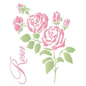 Stencil-Litoarte-211x172-STM-676-RosasStencil-Litoarte-211x172-STM-676-Rosas
