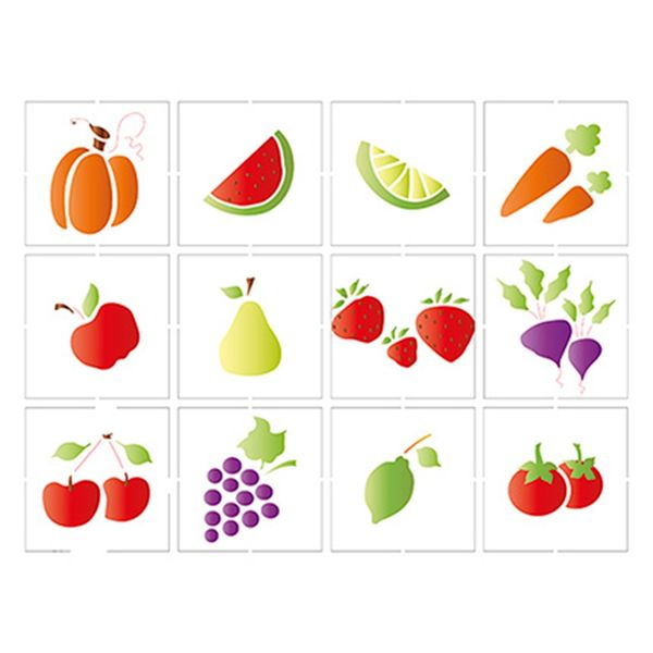 Stencil-Litoarte-25x20-STR-087-Legumes-e-Frutas