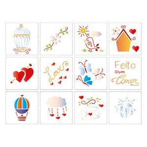 Stencil-Litoarte-25x20-STR-088-Elementos-Decorativos