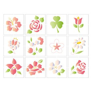 Stencil-Litoarte-25x20-STR-091-Miniaturas-de-Flores-II