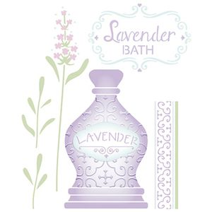 Stencil-Litoarte-25x20-STR-099-Perfume-Lavandas