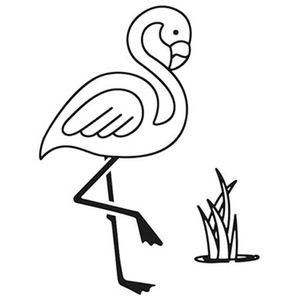 Carimbo-de-Borracha-Litoarte-CLP-125-Tropical-Flamingo