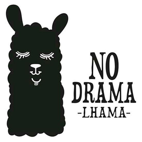Carimbo-de-Borracha-Litoarte-CLP-141-Lhama-no-Drama-Lhama