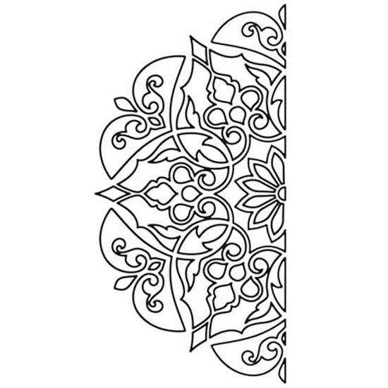 Carimbo-de-Borracha-Litoarte-CLP-155-Metade-de-uma-Mandala