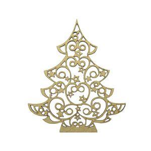 Aplique-em-MDF-Arvore-de-Natal-com-Estrelas-168x14cm---Palacio-da-Arte